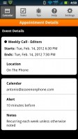 Day-Timer Plan2Go Calendar Appointment Details