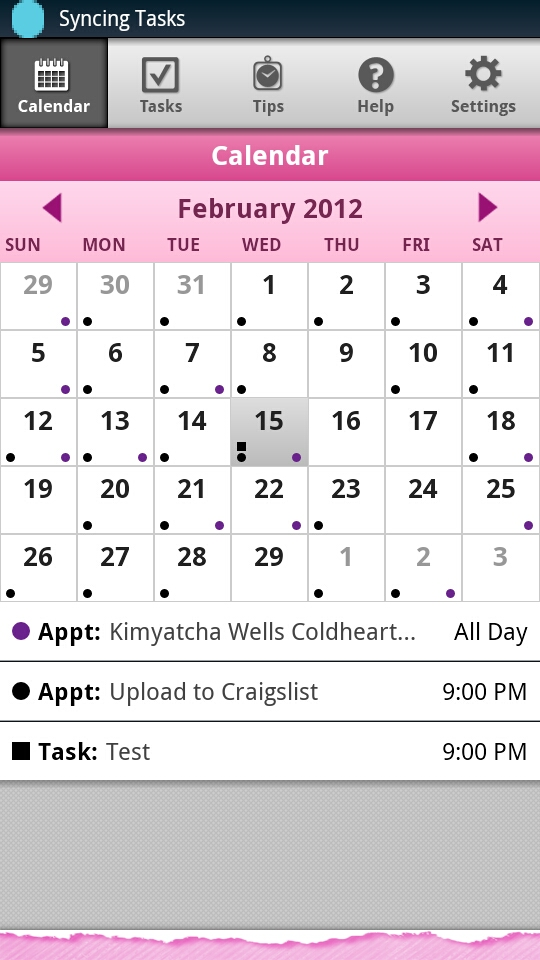 Monthly Calendar View : Day timer plan go monthly calendar view androidtapp