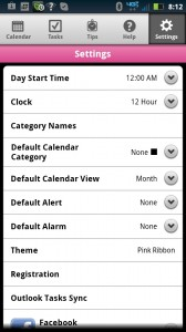 Day-Timer Plan2Go Settings