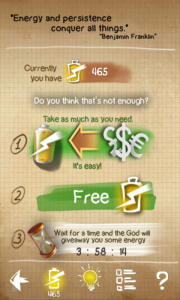 Doodle God FTP - Use real cash to buy extra energy etc