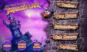 Dragon's Lair - Main menu
