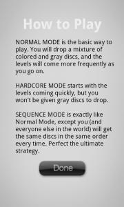 Drop7 - Mode explanations