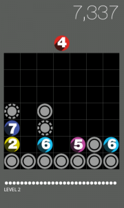Drop7 - Typical gameplay 1
