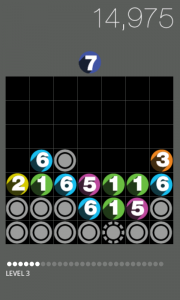 Drop7 - Typical gameplay 3