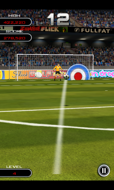 Flick Soccer! HD game for Android lets you flick, kick & score!