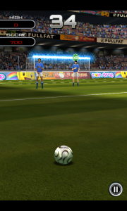 Flick Soccer - Crossbar gameplay
