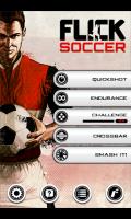 Flick Soccer - Menu