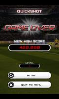 Flick Soccer - Quickshot game over