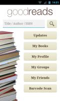 Goodreads - Main menu