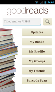 Goodreads - Main menu
