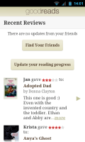 Goodreads - Recently reviewed books