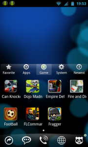 Hi launcher - Games view