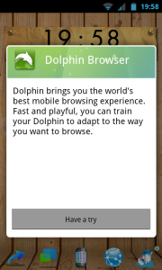 Hi Launcher - Option to download Dolphin browser