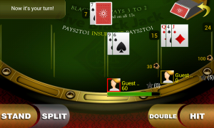 Live Blackjack 21 Pro - My turn