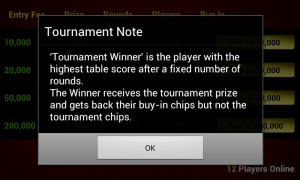 Live Blackjack 21 Pro - Tournament instructions