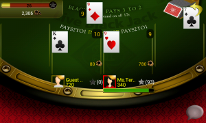 Live Blackjack 21 Pro - Typical gameplay view 2