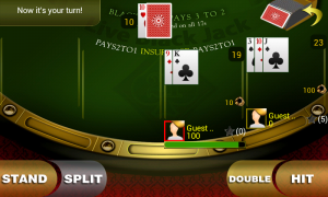 Live Blackjack 21 Pro - Typical gameplay view