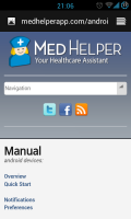 MedHelper - Online manual