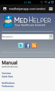 MedHelper - Online manual