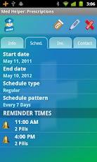 MedHelper - Scheduled prescriptions