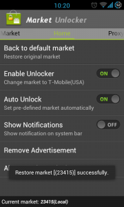 Market Unlocker - Successful change