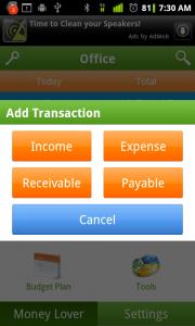 Money Lover Add Transaction 1