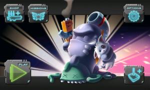 Monster Shooter - Menu screen