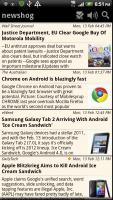 Newshog Google News Reader Saved Articles