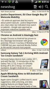 Newshog Google News Reader Saved Articles