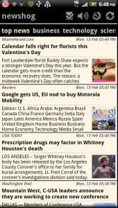 Newshog Google News Reader Top News Stories