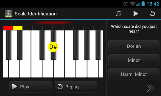 Perfect Ear – Android app for Testing & Improving your Musical 'Ear'