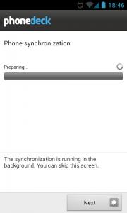 PhoneDeck - Phone sync