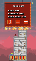 Pixel Towers - Game over, new high score