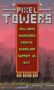 Pixel Towers - Main menu