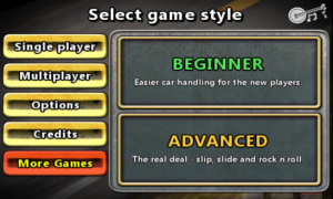 Reckless Racing - Select game style