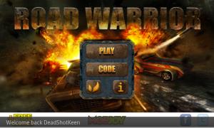 Road Warrior - Menu