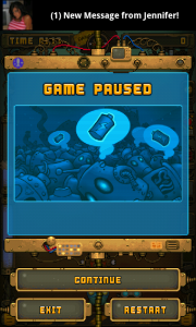 RoboSocket - Game paused. Which is lucky as you have a new message