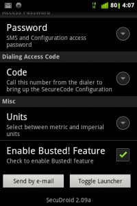 SecuDroid Settings 2