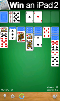 Solitaire - Typical gameplay screen