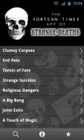 Strange Deaths - Main menu