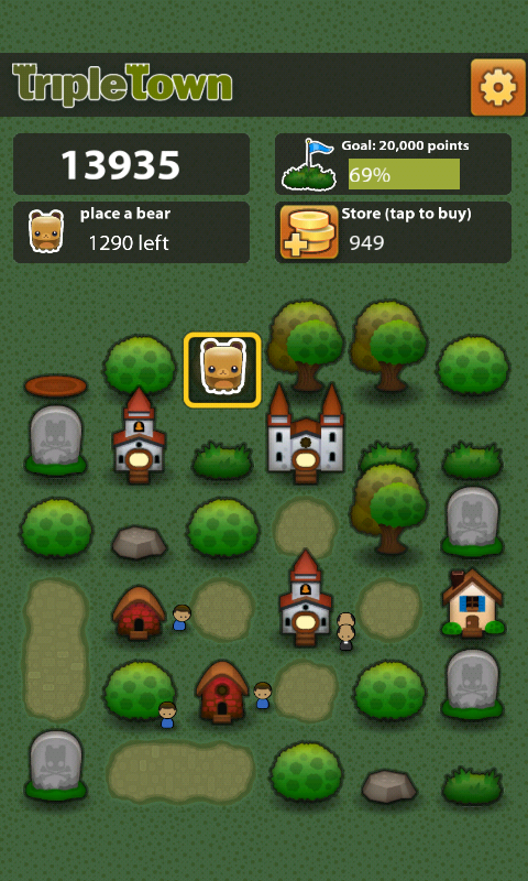 Triple Town – Unique title both Puzzler & Strategy game… it really draws you in!