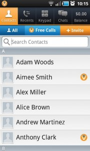 Vonage Mobile Contacts