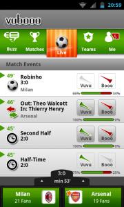 Vubooo - Match events