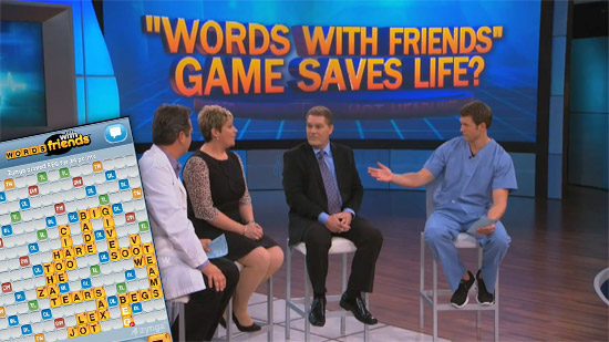 Words With Friends game Saves a Life!