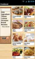 iCookbook - Main menu