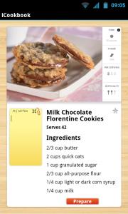 iCookbook - Recipe overview