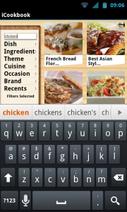 iCookbook - Search feature