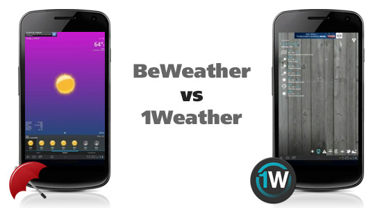 Android App Showdown: BeWeather vs 1Weather