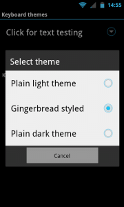 AnySoftKeyboard - Built-in themes