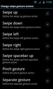 AnySoftKeyboard - Swipe gesture actions